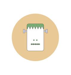 In flat design halloween icon vector