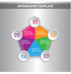Infographic business conceptual template with vector