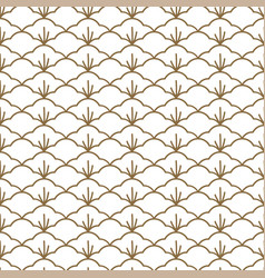 japanese pattern sashiko is a form decorative vector image