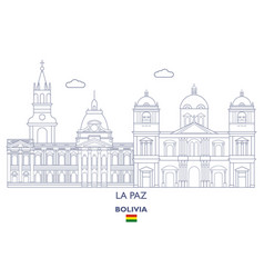 la paz city skyline vector image