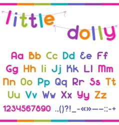 Little Dolly funny kid font vector