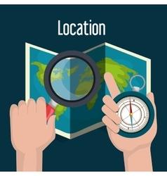 location concept design vector image