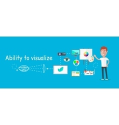 Man ability to visualize concept vector