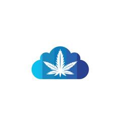 Medical marijuana cannabis hemp logo design in a vector