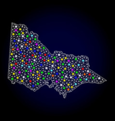 Mesh 2d map of australian victoria with colorful vector