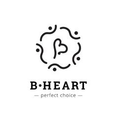 minimalistic elegant B letter logo vector image
