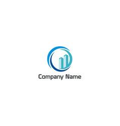 Modern building city company logo vector