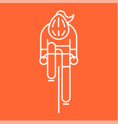modern of woman cyclist vector image