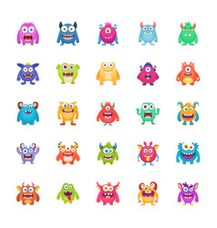monster characters pack vector image