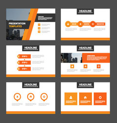 Orange elegance presentation templates Infographic vector