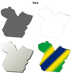 Para blank outline map set vector image