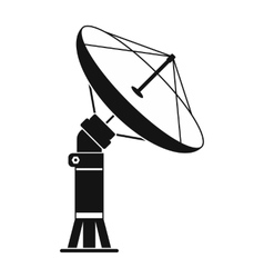 Parabolic aereal black simple icon vector