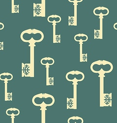 Pattern with antique keys vector