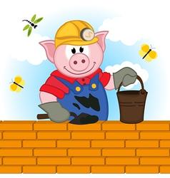 Pig builder vector