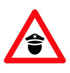Police danger - icon vector