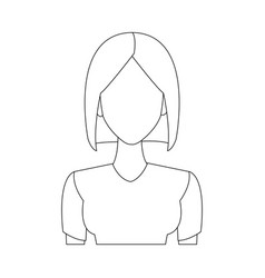 portrait woman young character people vector image
