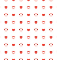 Red heart seamless pattern ornament background vector