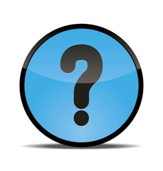 round button with a picture of a question mark vector image