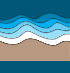 sea or ocean coast beach with water waves and sand vector image