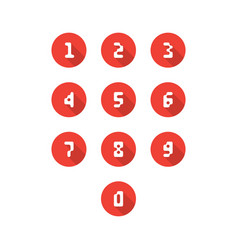 set of number icons vector image