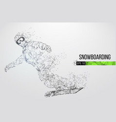 silhouette of a snowboarder vector image