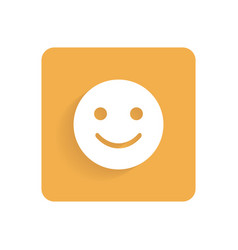 Smiley flat icon object isolated on white vector