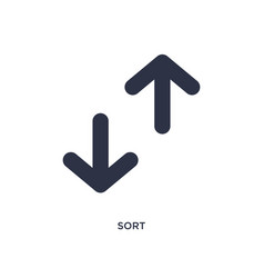 Sort icon on white background simple element from vector