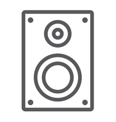 sound speaker line icon electronic and digital vector image
