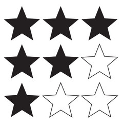 star rating icon on white background flat style vector image