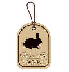 string tag meat label rabbit vector image