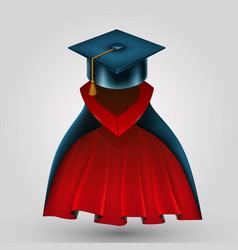 Suit graduate vector