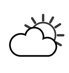 sun cloud icon vector image