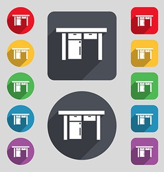 Table icon sign A set of 12 colored buttons and a vector image