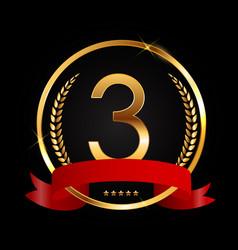 Template logo 3 years anniversary vector