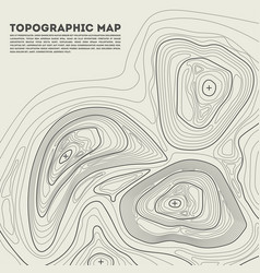 Topographic contour in vector
