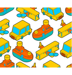 toy transport cartoon style pattern seamless car vector image