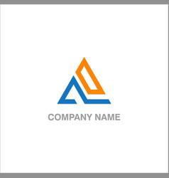 Triangle company logo vector