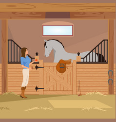 Trotter in stall flat composition vector