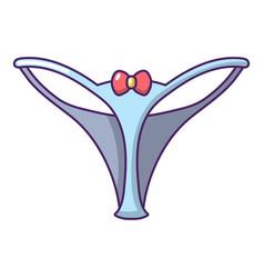 Underpants string icon cartoon style vector