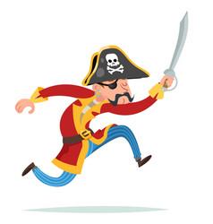 Urning cartoon pirate character design vector