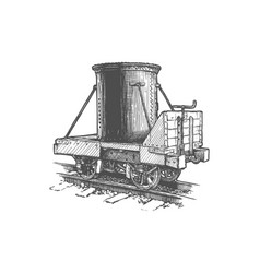vintage rail transport tank car vector image