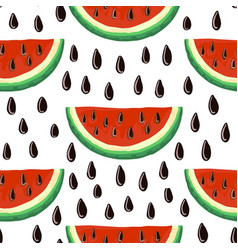 watermelon seamless pattern vector image