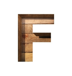 Wooden cutted figure f Paste to any background vector