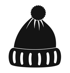 Woolen hat icon simple style vector