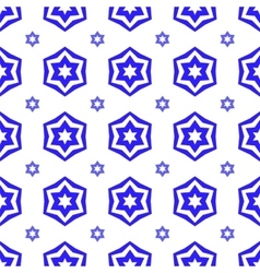 Blue david star seamless background vector