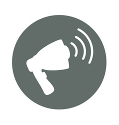 bullhorn advertising round icon vector image