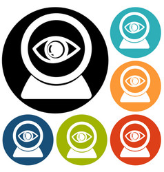 eye icon on a white background vector image