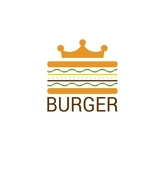 Burger king shop icon logo design vector image