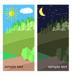 clearing in the forest vector image vector image