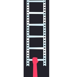 Filmstrip ladder vector